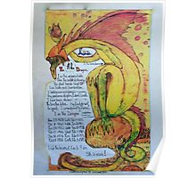 """""""Long"""" my chinese chart, of the year of the Dragon Poster"""