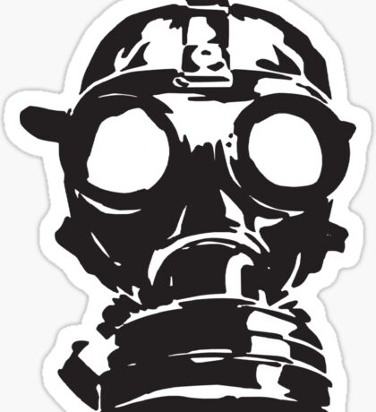 GAS MASK 3 Sticker