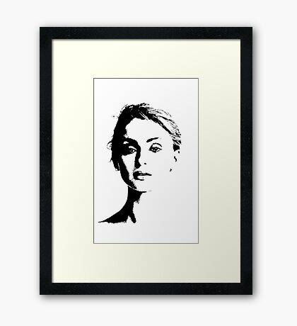High Contrast Sophie Turner Framed Print