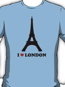 I Love London France Troll T-Shirt