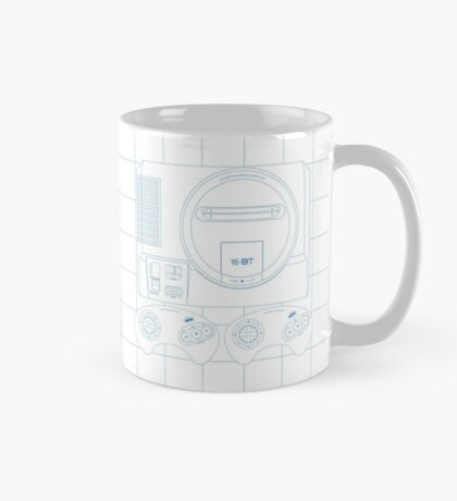 Megadrive Outline single (white) Mug