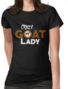 Crazy Goat Lady - Funny Animal Design Womens Fitted T-Shirt