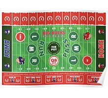 Big Bucks Football - Red & White Poster