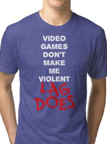 Video Games Don't Make Me Violent - Lag Does T Shirt Tri-blend T-Shirt