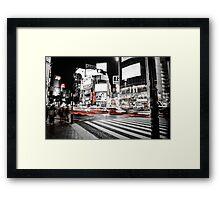 Shibuya Madness Framed Print