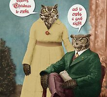 Merry Christmas to Owls . . . and to Owls a Good Night! by PETER GROSS