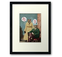 Merry Christmas to Owls . . . and to Owls a Good Night! Framed Print