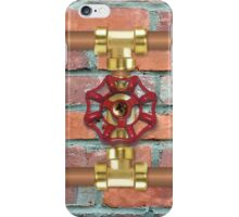 Copper Pipe with Red Water Valve - Plumbing iPhone Case/Skin