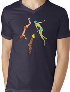 Martians Landing Mens V-Neck T-Shirt