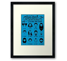 Movie Facial Hair Compendium Framed Print