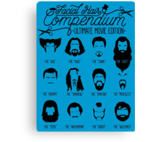 Movie Facial Hair Compendium Canvas Print