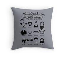 The Gamer Facial Hair Compendium Throw Pillow