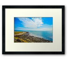 Blue Sky Sea Framed Print