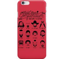 TV Facial Hair Compendium iPhone Case/Skin