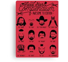 TV Facial Hair Compendium Canvas Print
