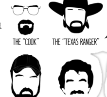 TV Facial Hair Compendium Sticker