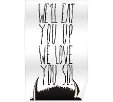 Where the Wild Things Are - We'll Eat You Up Cutout Poster