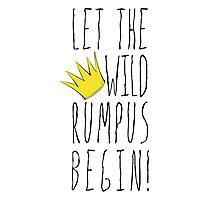 Where the Wild Things Are - Rumpus Begin Crown Cutout Photographic Print