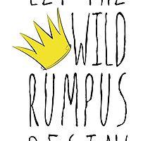 Where the Wild Things Are - Rumpus Begin Crown Sticker by Rachel Katz