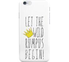 Where the Wild Things Are - Rumpus Begin Crown Cutout iPhone Case/Skin