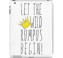Where the Wild Things Are - Rumpus Begin Crown Cutout iPad Case/Skin