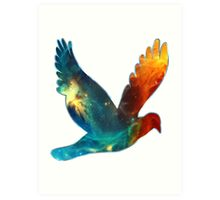 Space Bird, Universe, Galaxy, Cosmos Art Print