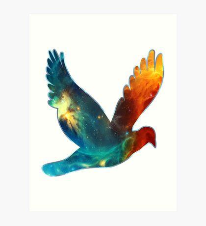Space Bird, Universe, Galaxy, Cosmos Art Print