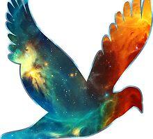 Space Bird, Universe, Galaxy, Cosmos by boom-art
