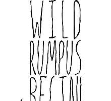 Where the Wild Things Are - Rumpus Begin Cutout by Rachel Katz