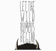 Where the Wild Things Are - Rumpus Begin Cutout Kids Clothes