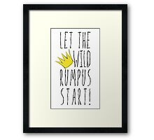 Where the Wild Things Are - Rumpus Start Crown Cutout Framed Print