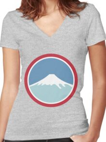 Mount Fuji Women's Fitted V-Neck T-Shirt