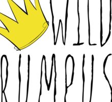 Where the Wild Things Are - Rumpus Start Crown Sticker Sticker