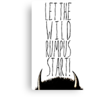 Where the Wild Things Are - Rumpus Start Cutout Canvas Print