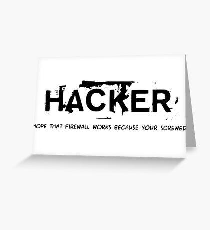 Hacker Greeting Card