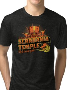 Greetings From Scrabania Temple Tri-blend T-Shirt