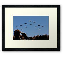 F 18 Jets Returning Home Framed Print