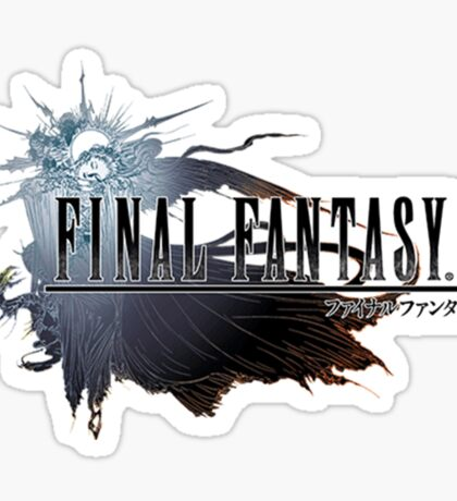 The Final Fantasy Logo Sticker