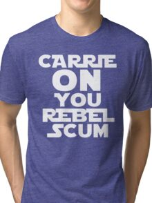 "RIP Carrie Fisher Princess Leia ""Carrie On"" Tri-blend T-Shirt"