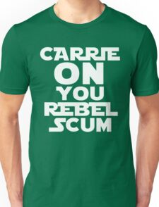 "RIP Carrie Fisher Princess Leia ""Carrie On"" Unisex T-Shirt"