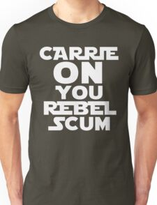 """RIP Carrie Fisher Princess Leia """"Carrie On"""" Unisex T-Shirt"""