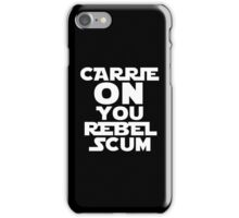 """RIP Carrie Fisher Princess Leia """"Carrie On"""" iPhone Case/Skin"""