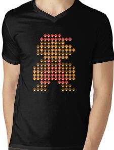 Mario Mushroom Mosaic Mens V-Neck T-Shirt