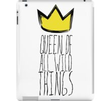 Where the Wild Things Are - Queen of All Wild Things 1 Cutout  iPad Case/Skin