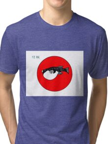 Japanese Fugu - blow fish Trust in the cook  Tri-blend T-Shirt