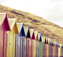 Colorful beach huts Sticker