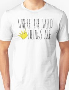 Where the Wild Things Are - Crown Title Cutout Unisex T-Shirt