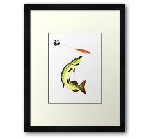 Striking Pike  Framed Print