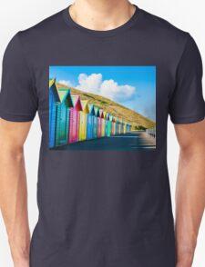 Colorful beach huts T-Shirt