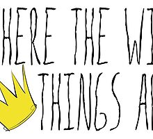 Where the Wild Things Are - Crown Title Sticker by thebremanmuseum